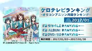 アニソンランキング 2017年1月【ケロテレビランキング】