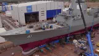 オーストラリアのイージス艦 ホバート級駆逐艦2番艦