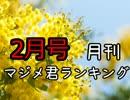 月刊マジメ君ランキング17年2月号