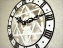 【ペーパークラフト】 紙で作った振り子時計 【ペーパークロック】