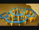プラレールで出来るだけ複雑な立体レイアウトを作ってみたよ
