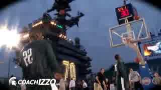 【アメリカ】空母の飛行甲板でバスケの試合を開催