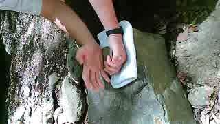 自然石割り