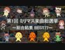 第1回 ミリマス楽曲総選挙 ~総合結果 BES