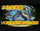【パズドラ】水の宝珠龍地獄級高速周回(ソロ)