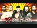 【WWE】ユニバーサル王座挑戦者決定戦(1/2)【ER17】