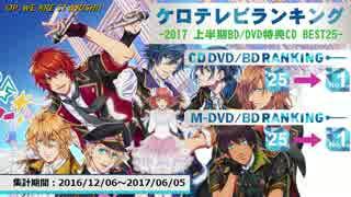 上半期アニソンランキング 2017 BD/DVD BEST 25【ケロテレビ】