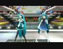 【MMD】二人のマジカルミライ風ミクさんがリハで「星屑サテライト」