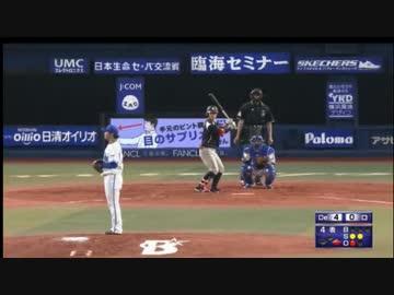 【プロ野球】後ろの広告と投手がマッチして笑ってしまう実況【ニコ生】