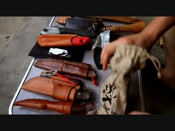 【キャンプ道具紹介】 刃物編 自作ナイフと鉈斧鋸の組み合わせ