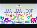 MMDダンスモーション素材10_UMA UMA LOOP