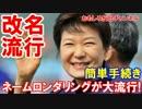 【韓国でネームロンダリングが大流行】 パク・クネなんて嫌だ!