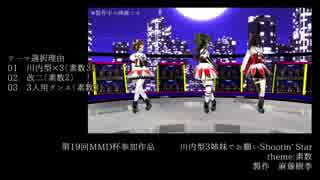 【第19回MMD杯予選】川内型3姉妹でお願いS