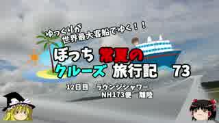 【ゆっくり】クルーズ旅行記 73 ラウンジシャワー 日本へ