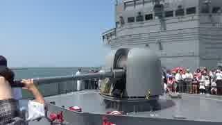 【音量注意】訓練支援艦くろべ 76mm砲動作展示