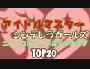 デレマスアイドル ニコニコ内ランキング TOP20