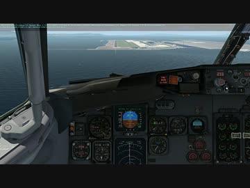 X-Plane11 IXEG 737 Classicで台風の中をフライトしてみました。初心者(後編)