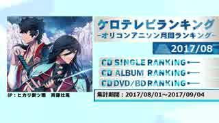 アニソンランキング 2017年8月【ケロテレビランキング】