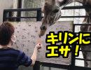 【旅行】キリンのエサあげではしゃぐ大人たち。栃木旅行を楽しむわ01