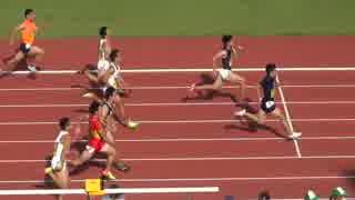 桐生祥秀 9秒98(+1.8) 決勝 男子100m 日本インカレ陸上2017