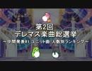 [中間発表#1]第2回 デレマス楽曲総選挙 [ユニット曲 人数別TOP5(or TOP10)]