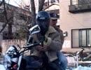 バイク青年&Mr.マラ菊
