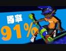 【スプラトゥーン2】勝率91%カンストローラーのガチマッチPart6