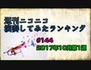 週刊ニコニコ演奏してみたランキング #144 10月第1週