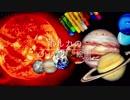 クレパスで惑星を描く
