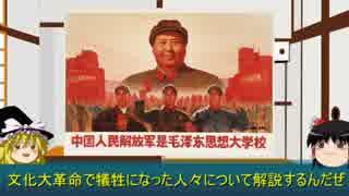 「ゆっくりで解説する兵士」 文化大革命の犠牲者
