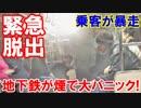 【韓国 地下鉄が煙で大パニック】 破裂音、急停止、乗客が暴走!