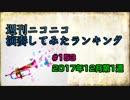 週刊ニコニコ演奏してみたランキング #153 12月第1週