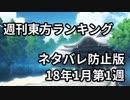 週刊東方ランキング 18年1月第1週 修正版<ネタバレ防止版>