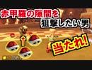 1つ欠けた3連赤甲羅の隙間を狙撃マリオカート8DX(325)