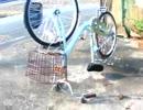 買ったばかりの自転車に鍵をかける嫌がらせ、逆さまにする嫌がらせ
