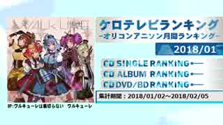 アニソンランキング 2018年1月【ケロテレビランキング】