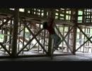 【下北山スポーツ公園】わんぱくランド(児童公園) ジャングルハウスの中のロープ遊具(ターザンロープ⁉)で遊ぶあい❤スピードが出ると少し怖いです… お出かけ キャンプ