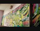 黒板にミニオンズ 【黒板アート】