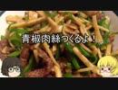 【ゆっくりニート飯】青椒肉絲つくるよ!【本格中華】