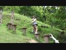 【みつえ青少年旅行村】ロープ遊具・アスレチック遊具で遊ぶあい♥お出かけ キャンプ場