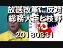 野田聖子がなんと放送改革に反対表明、総務大臣が旗振りしなくちゃダメだろ