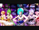 【MMD】着物ミニスカ衣装なボカロ5人で「ヒバナ」[1080p60fps]