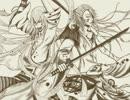 【手描き刀剣乱舞】江雪と宗三で仲良く喧嘩しな