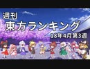 第51位:週刊東方ランキング 18年4月第3週 thumbnail