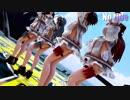 【MMD艦これ】金剛4姉妹でNo title 折岸みつコスプレBローアングルVer 歌詞つき