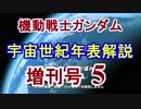 第60位:【機動戦士ガンダム】宇宙世紀年表解説 増刊号 【ゆっくり解説】part5 thumbnail