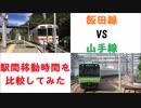 飯田線VS山手線 駅間移動時間を比較してみた