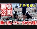 【韓国に出現した酔っ払いパークが臭いと話題】 泥酔者続出で行政も麻痺状態!もちろんトイレも・・・解放型だ!