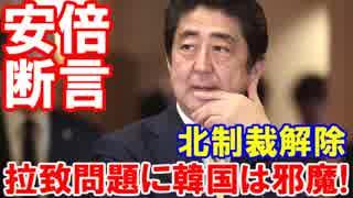 【拉致問題解決に韓国は邪魔だ】 安倍首相が断言!問題解決前に北朝鮮への支援はありえない!