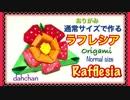 第97位:【折り紙】通常サイズで作るラフレシア(花) thumbnail